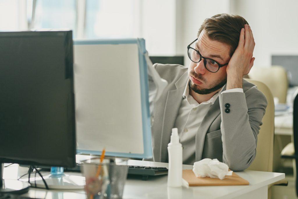 Work problems because of coronavirus quarantine